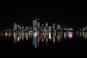 Night view of Perth at the foreshore
